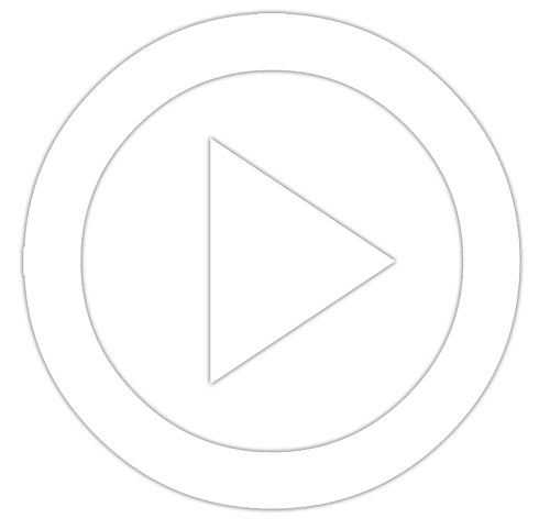 Explainer Video play button icon consisting of white circle with white triangle